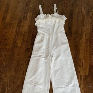 Lucca white ruffle top jumpsuit